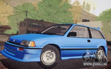 Honda Civic S 1986 IVF pour GTA San Andreas vue arrière