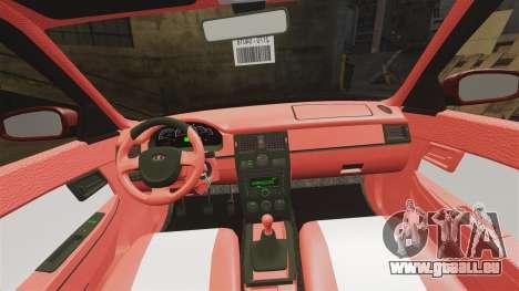 VAZ-2170 Dubaï pour GTA 4 vue de dessus