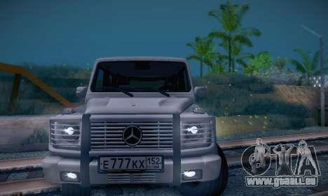 Mercedes-Benz G500 pour GTA San Andreas vue arrière