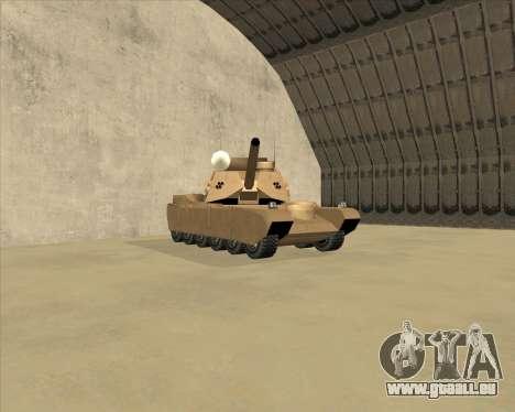Rhino Mark.VI pour GTA San Andreas laissé vue