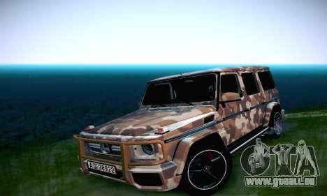 Mercedes Benz G65 Army Style pour GTA San Andreas vue intérieure