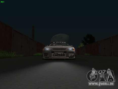 Nissan Skyline BNR32 pour GTA San Andreas vue arrière