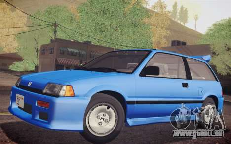Honda Civic S 1986 IVF pour GTA San Andreas vue de droite