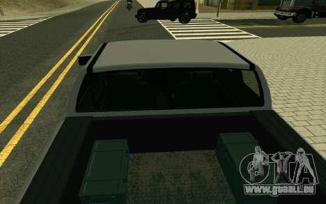 GTA V Bison Version 2 FIXED für GTA San Andreas Rückansicht