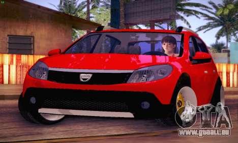 Dacia Sandero für GTA San Andreas Innenansicht