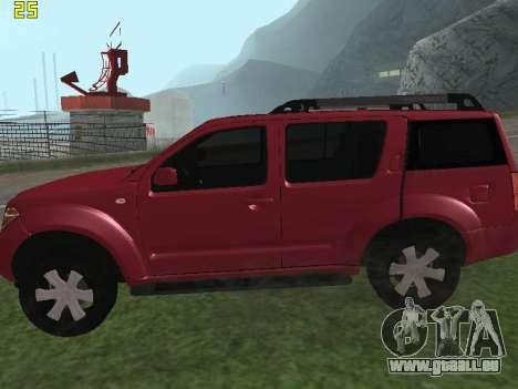 Nissan Pathfinder pour GTA San Andreas laissé vue