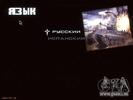 Menu de World of Tanks pour GTA San Andreas huitième écran