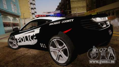 McLaren MP4-12C Police Car für GTA San Andreas linke Ansicht