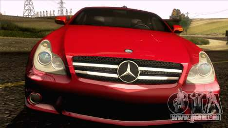 Mercedes-Benz CLS 63 AMG 2008 pour GTA San Andreas vue intérieure