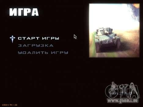 Menu de World of Tanks pour GTA San Andreas troisième écran