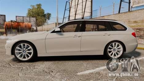 BMW 330d Touring (F31) 2014 Unmarked Police ELS für GTA 4 linke Ansicht