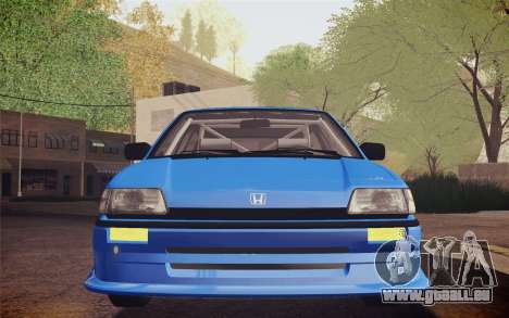 Honda Civic S 1986 IVF pour GTA San Andreas vue intérieure