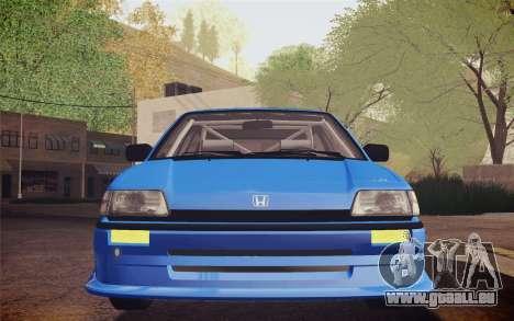 Honda Civic S 1986 IVF für GTA San Andreas Innenansicht