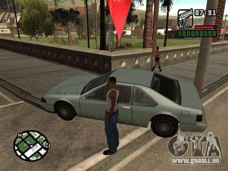 Le Ketchup sur le capot pour GTA San Andreas deuxième écran