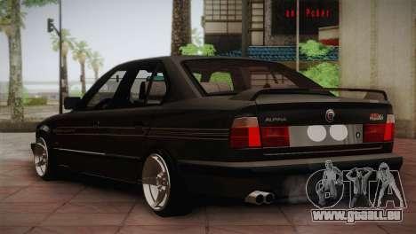 BMW E34 Alpina B10 pour GTA San Andreas vue de droite