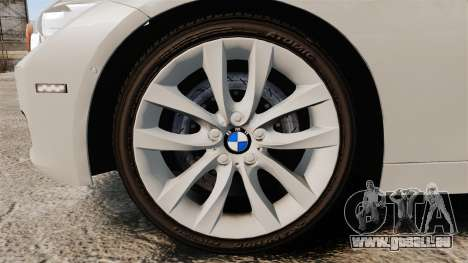 BMW 330d Touring (F31) 2014 Unmarked Police ELS pour GTA 4 Vue arrière