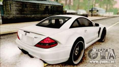 Mercedes-Benz SL65 AMG BS 2009 pour GTA San Andreas laissé vue