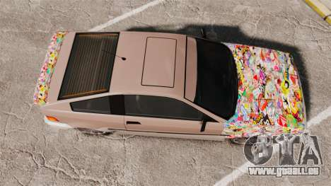Blista Compact Sticker Bomb für GTA 4 rechte Ansicht