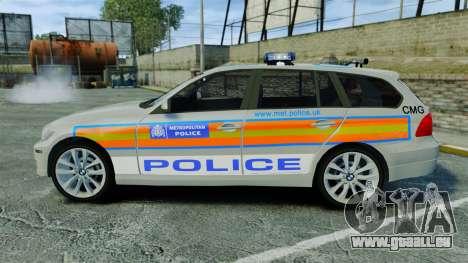 BMW 330i Touring Metropolitan Police [ELS] für GTA 4 linke Ansicht