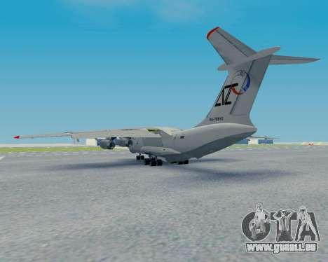 Il-76TD Aviacon zitotrans pour GTA San Andreas vue arrière