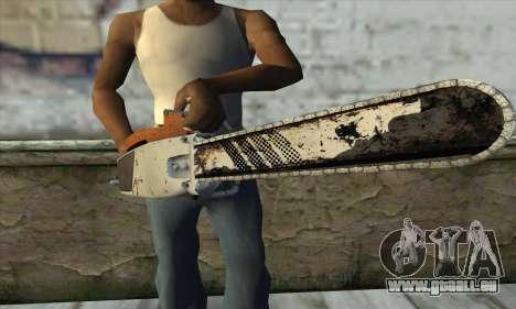 Tronçonneuse à partir de L4D2 pour GTA San Andreas troisième écran