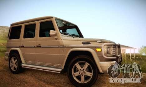 Mercedes-Benz G500 für GTA San Andreas Motor