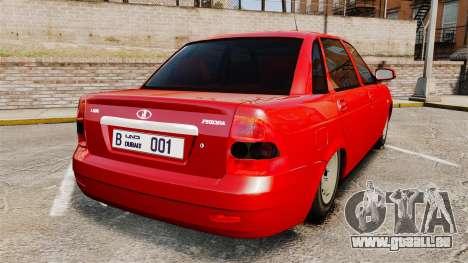 VAZ-2170 Dubaï pour GTA 4 Vue arrière de la gauche