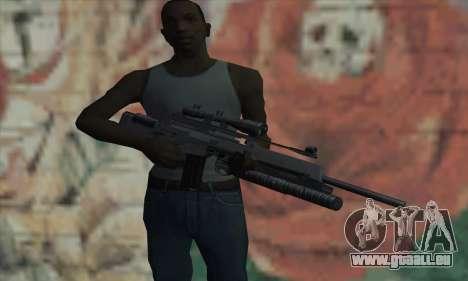 SG550 pour GTA San Andreas troisième écran