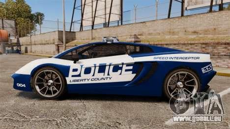 GTA V Pagassi Vacca Police für GTA 4 linke Ansicht