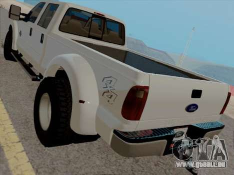 Ford F450 Super Duty 2013 pour GTA San Andreas sur la vue arrière gauche