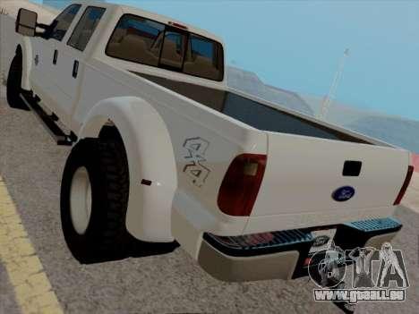 Ford F450 Super Duty 2013 für GTA San Andreas zurück linke Ansicht
