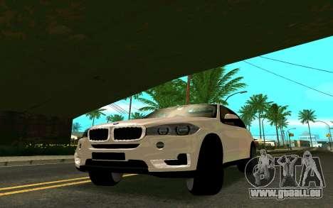 BMW X5 F15 pour GTA San Andreas sur la vue arrière gauche