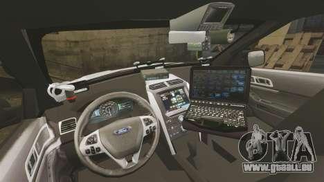 Ford Explorer 2013 LCPD [ELS] v1.5X für GTA 4 Rückansicht