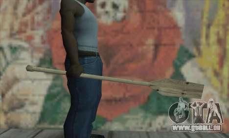 The wooden paddle pour GTA San Andreas deuxième écran