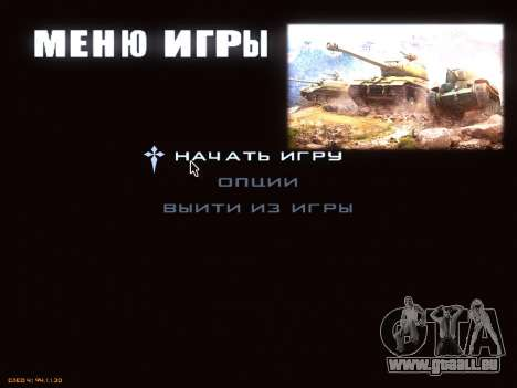 Menu de World of Tanks pour GTA San Andreas deuxième écran
