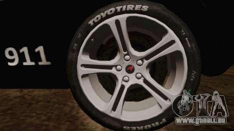 McLaren MP4-12C Police Car für GTA San Andreas zurück linke Ansicht