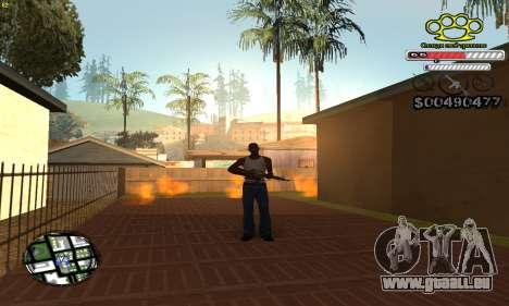 C-HUD Gangster by NickQuest pour GTA San Andreas deuxième écran