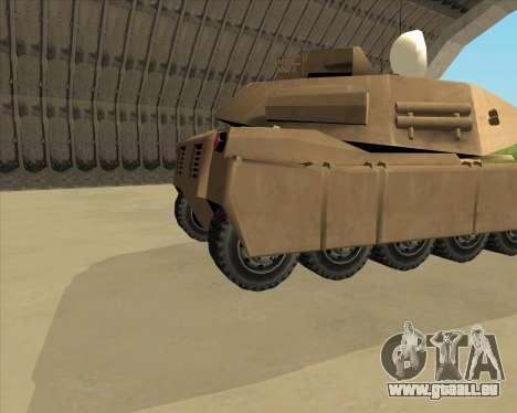 Rhino Mark.VI pour GTA San Andreas sur la vue arrière gauche