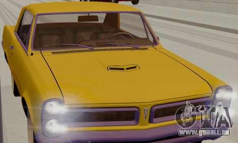 Pontiac GTO 1965 pour GTA San Andreas vue de droite