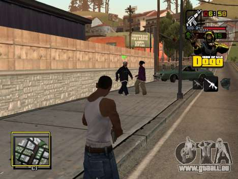C-HUD Snoop Dogg für GTA San Andreas dritten Screenshot