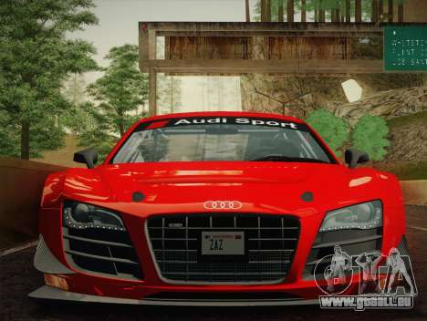 Audi R8 LMS Ultra W-Racing Team Vinyls für GTA San Andreas zurück linke Ansicht