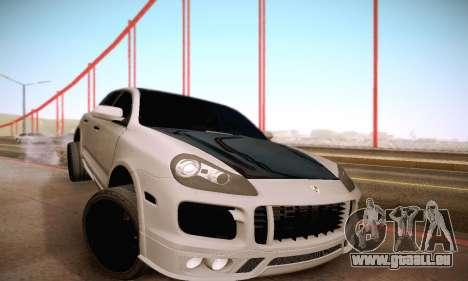 Porsche Cayenne pour GTA San Andreas vue de dessus