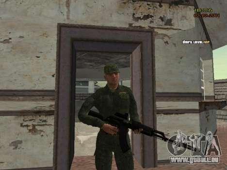 L'armée russe moderne pour GTA San Andreas neuvième écran