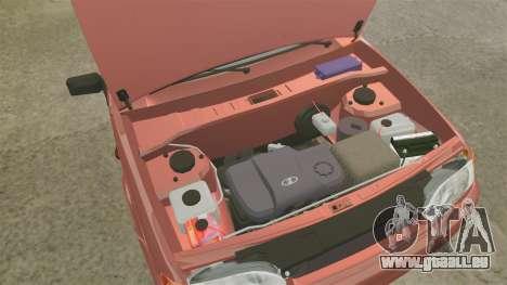 VAZ-2114 Samara-2 pour GTA 4 est une vue de l'intérieur