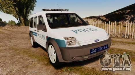 Ford Transit Connect Turkish Police [ELS] v2.0 pour GTA 4
