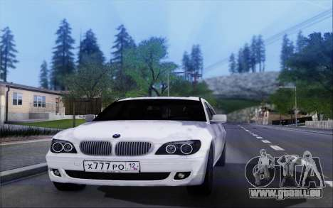 BMW 760Li E66 für GTA San Andreas linke Ansicht