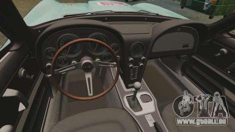 Chevrolet Corvette C2 1967 pour GTA 4 Vue arrière