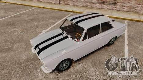 Lotus Cortina 1963 pour GTA 4 est une vue de dessous