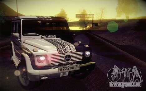 Mercedes-Benz G55 AMG für GTA San Andreas Rückansicht
