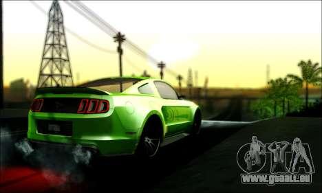 Ford Mustang GT 2013 v2 pour GTA San Andreas laissé vue